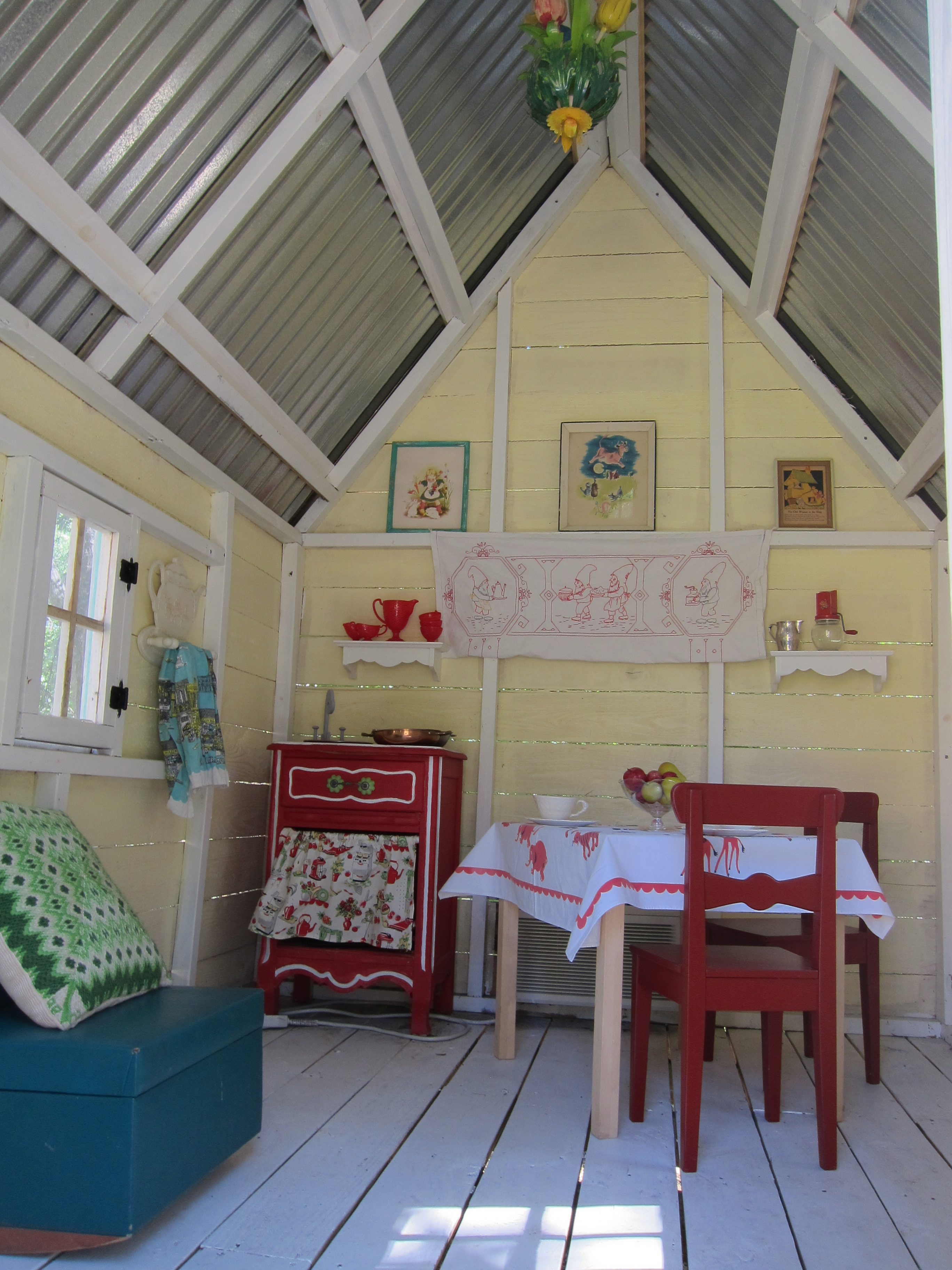 First tea party of the season betty crafter for Playhouse interior designs