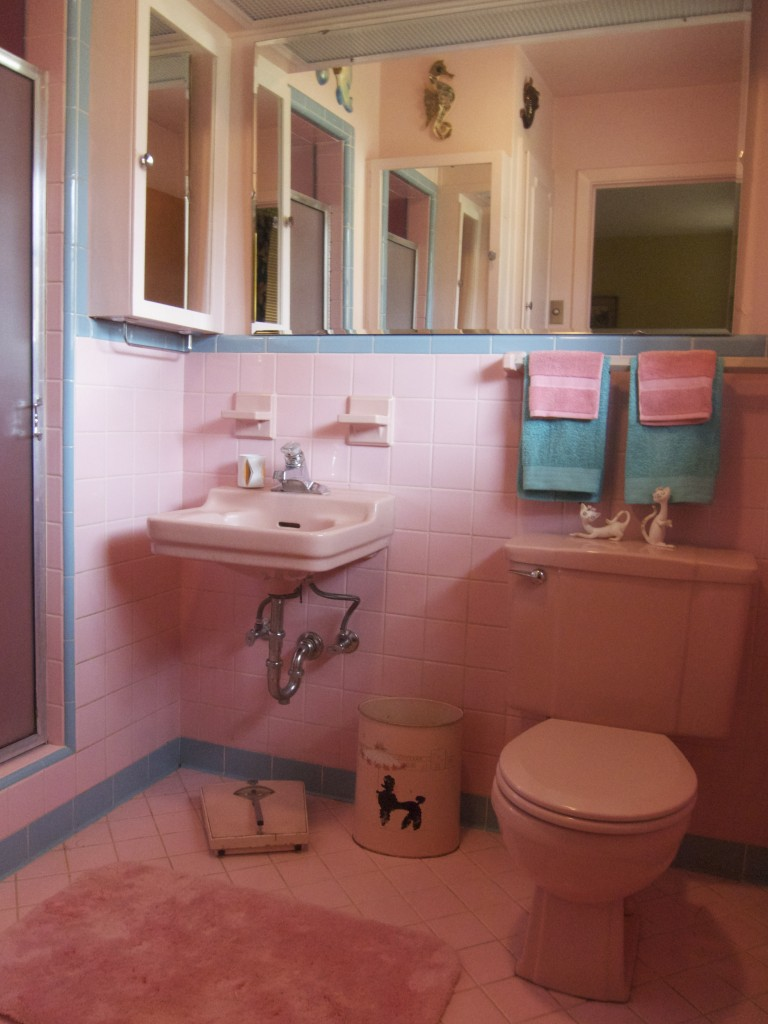 One more pink bathroom saved betty crafter for Retro bathroom designs
