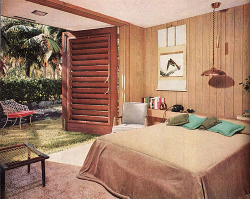 1950s Contemporary Bedroom Design